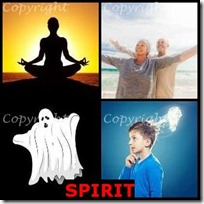 SPIRIT- 4 Pics 1 Word Answers 3 Letters
