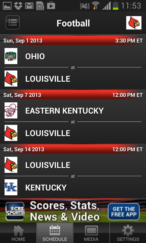 Louisville CardsMobile - screenshot