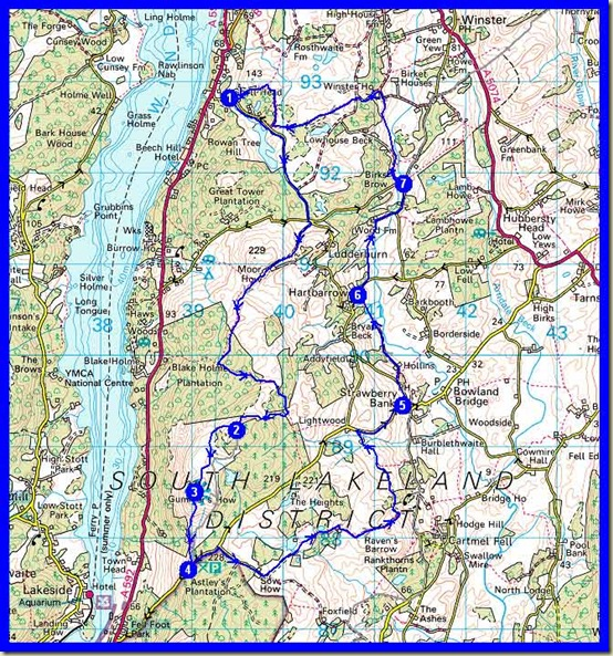 Our route: 20km, 600 metres ascent, in a little over 6 hours