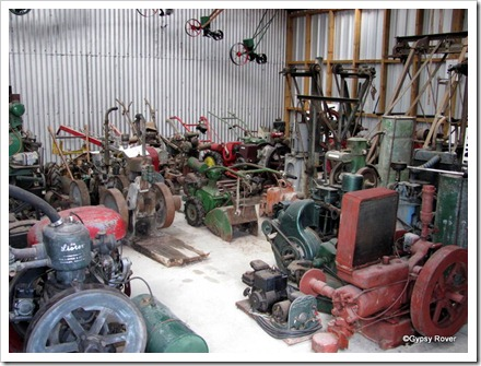 The machinery shed at Geraldine Car and Machinery Museum.