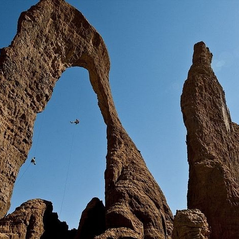 Towering Rocks of Ennedi Desert in Chad, Africa
