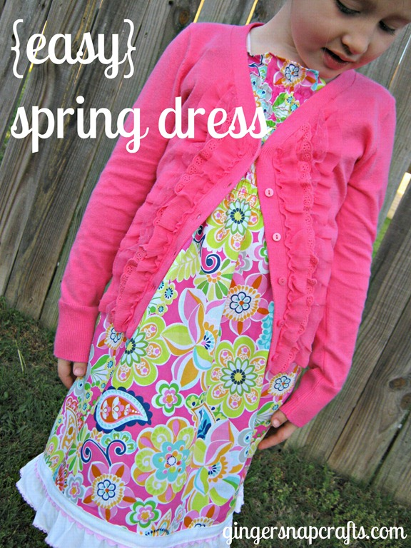 cute and easy spring dress tutorial