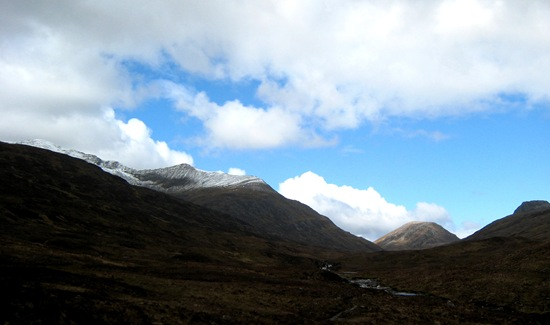 Looking back up the Lairig Leacach