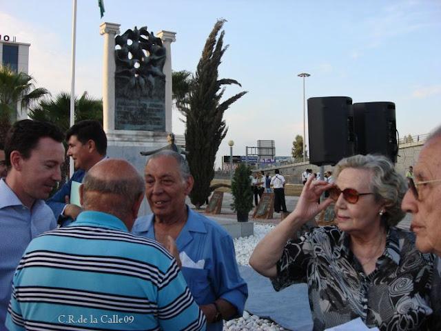 Maria Angeles Infante. 73º aniversario del fusilamiento de Blas Infante. Acto de la Fundación Blas Infante.Carretera de Carmona. 10-08-09.