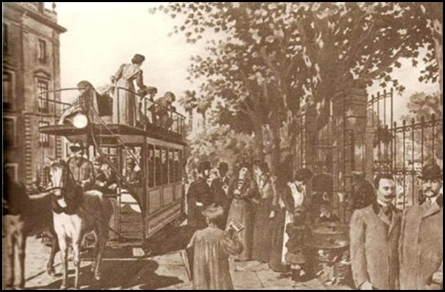 Tranvias de traccion animal ca 1890