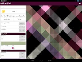 Screenshot of Origami Live Wallpaper