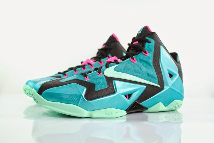 timeless design b69af 3776e Release Reminder Nike LeBron 11 South Beach .