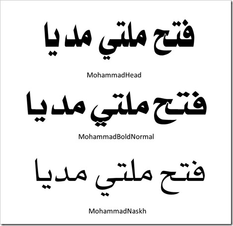 write arabic fonts online to copy