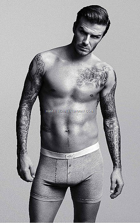 DAVID BECKHAM H&M BODYWEAR briefs, boxers, vests, T-shirts, pyjamas long johns.