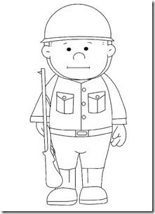 Dibujos Día Del Soldado Para Colorear