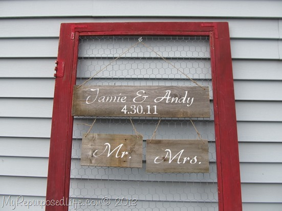 repurposed screen door