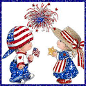 Patriotic Boy and Girl LWP logo
