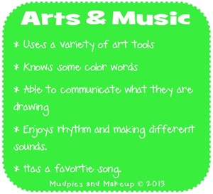 Preschool Art and Music Skills