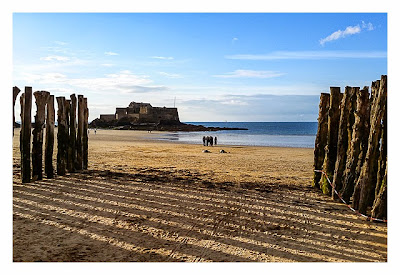 Saint Malo - Geocaching in historischer Kulisse - Fort Nationale bei Ebbe