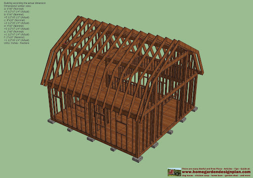 How To Gambrel 12x16 Shed Plans With Loft 34198 Pingesheds