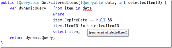See Sharp With ASP Net: Filter an IQueryable Datasource on the Fly