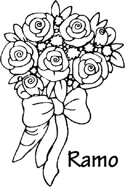 Dibujo Ramo De Flores Para Colorear