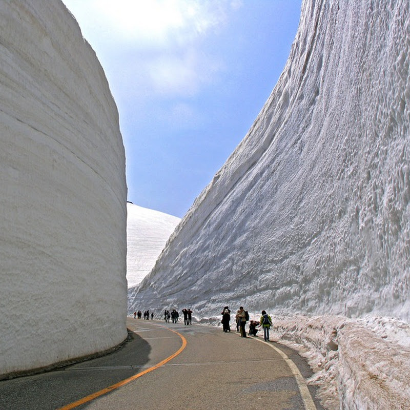 Gigantic Snow Wall Along Tateyama Kurobe Alpine Route, Japan