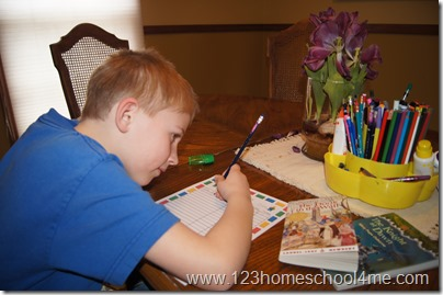 Using Enchnated Homeschooling Moms block reading log