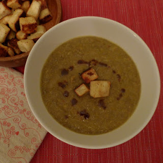 Creamy Green Lentil Soup with Curried Brown Butter