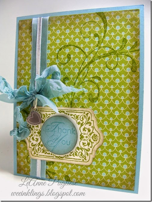 LeAnne Pugliese WeeInklings Paper Players 202 Chalk Talk Thank You Stampin Up