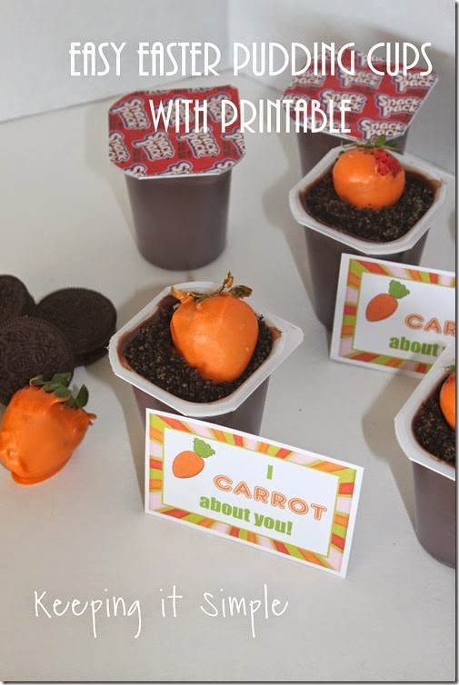 #ad Easy-Easter-Pudding-Treat-with-printable #SnackPackMixins