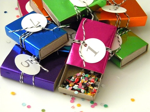 New Year's Eve Countdown & Confetti Match boxes