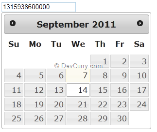 DevCurry: jQuery UI DatePicker Built-In Date Formats