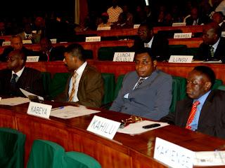 Des sénateurs lors d'une session à la chambre haute du parlement à Kinshasa. Radio Okapi/ Ph. John Bompengo