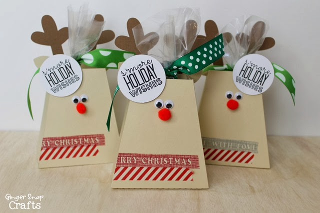 s'more reindeer treat boxes #gingersnapcrafts