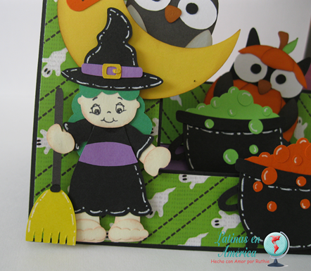 Brewing Beauties - Kadoodlebug Designs - Halloween Card - Step side card - Latinas en America - Ruthie Lopez DT 5