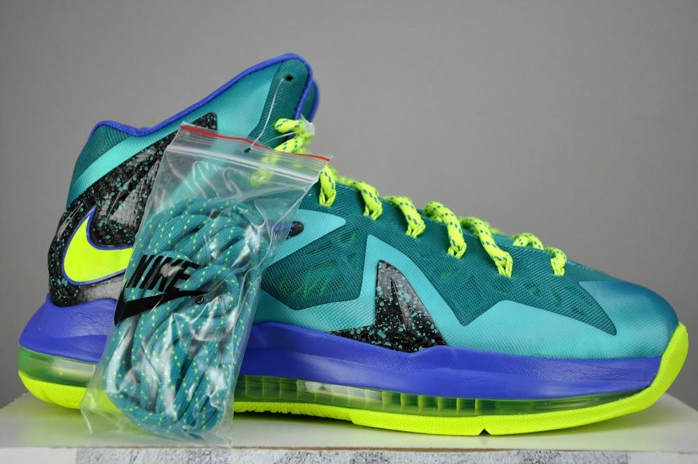 detailed look 35db7 51416 Nike LeBron X PS Elite Sport TurquoiseVoltViolet Force ...