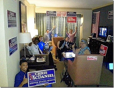 Our Chris McDaniel for Senate War Room Where We Ran Our Phone-From-Home Program