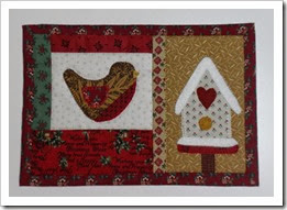 Winter Birdhouse Mug Rug for Lyn Dec13RED