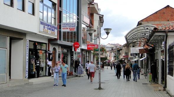Rua de pedestre em Ohrid