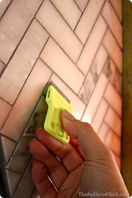 cleaning tiles after grout