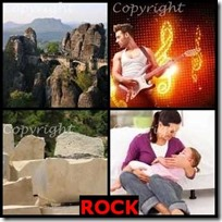 ROCK- 4 Pics 1 Word Answers 3 Letters