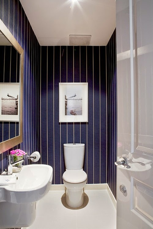 Blue Powder Room via pinterest