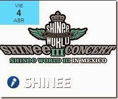 Shinee World en Mexico venta de Boletos