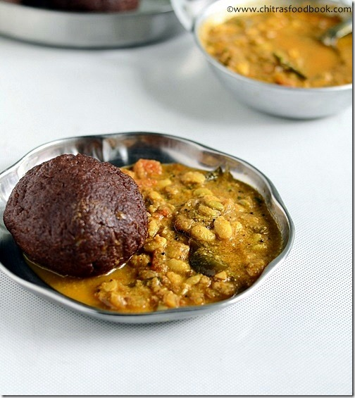 side dish for ragi mudde