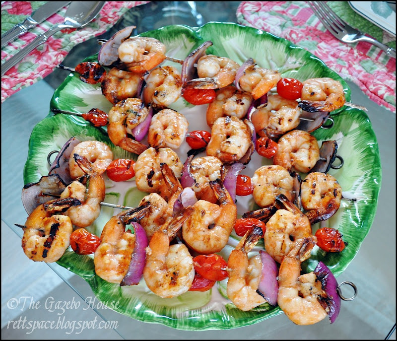 Grilled garlic shrimp & rice 006