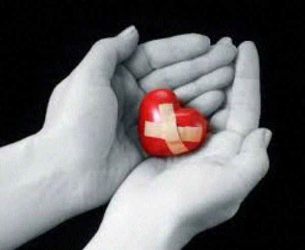 Best And The Worst Thing About My Heart- Wounded heart is held hand