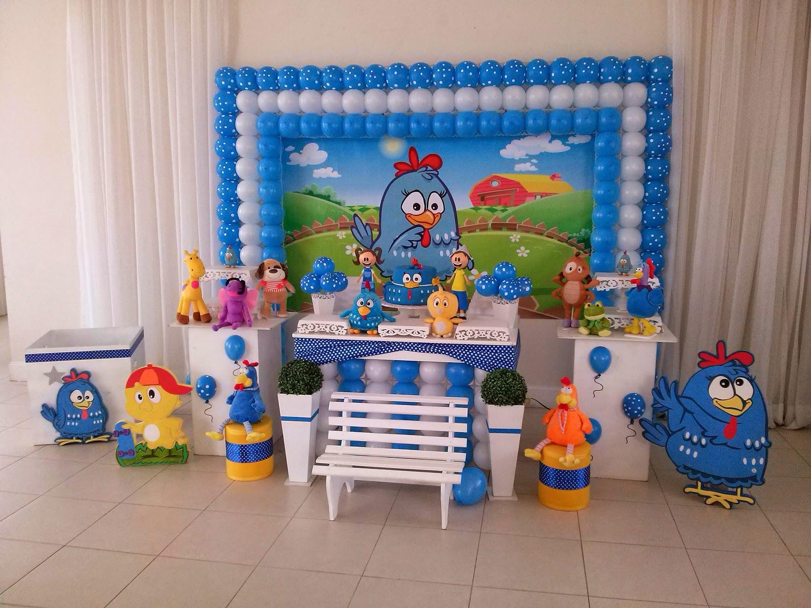 decoracao galinha pintadinha azul e amarelo:Decoração Galinha Pintadinha Provençal – CIFESTA DECORAÇÕES