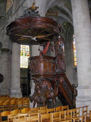 Chaire dans l'Eglise Notre-Dame-du-Sablon à Bruxelles