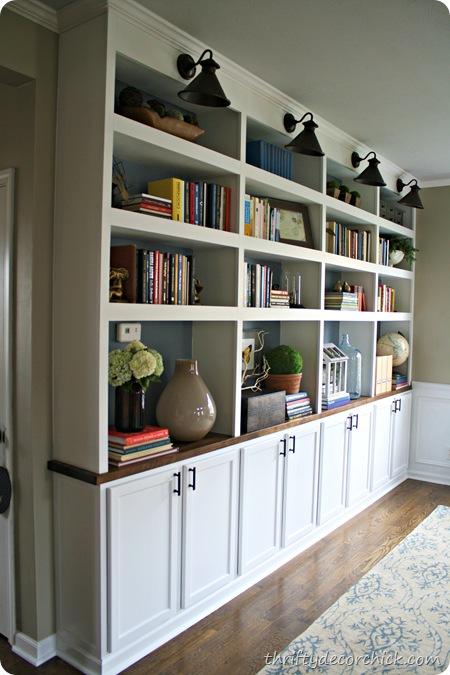 Diy Built In Bookcases Butcher Block