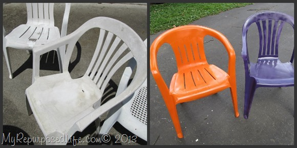 My Repurposed Life-Quick and Easy fix for patio chairs with spray paint