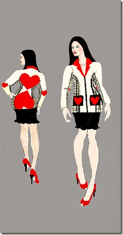 front and back febuary coat illustration