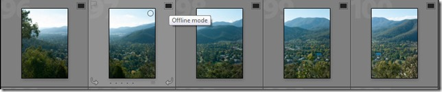 Lightroom 5 Libray Mode showing smart previews