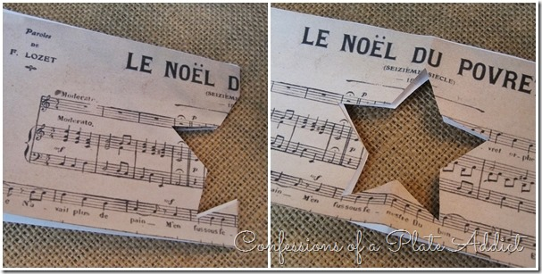 CONFESSIONS OF A PLATE ADDICT French Sheet Music Christmas Candles tutorial