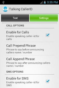 Talking Caller ID Calls & SMS - screenshot thumbnail